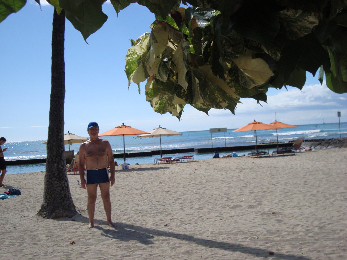 Me, a 69 years old youngster on Waikiki Beach