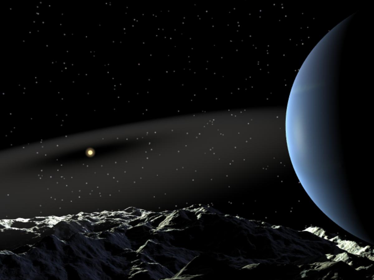 Artist impression of the Epsilon Eridai system