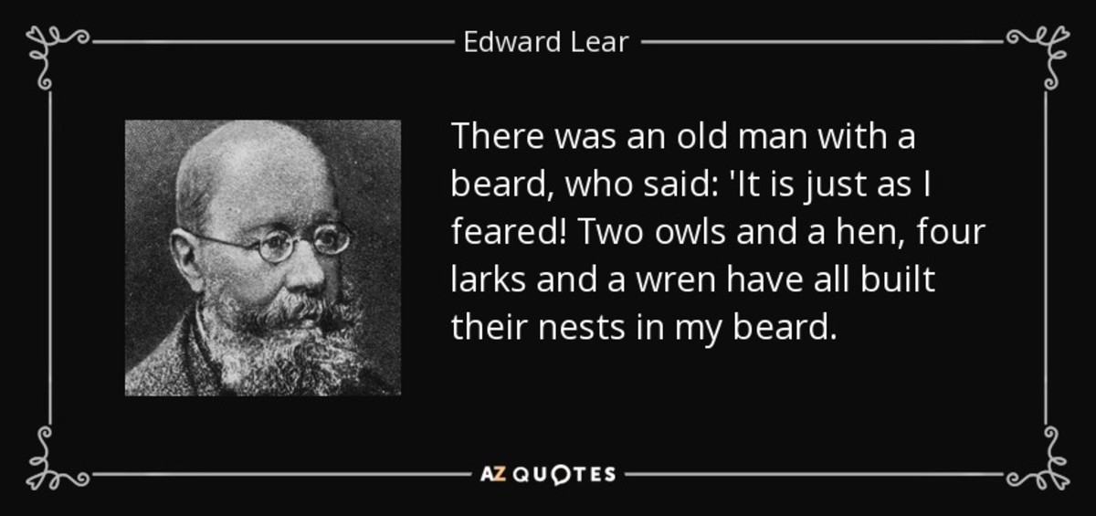 There was an old man with a beard, Edward Lear