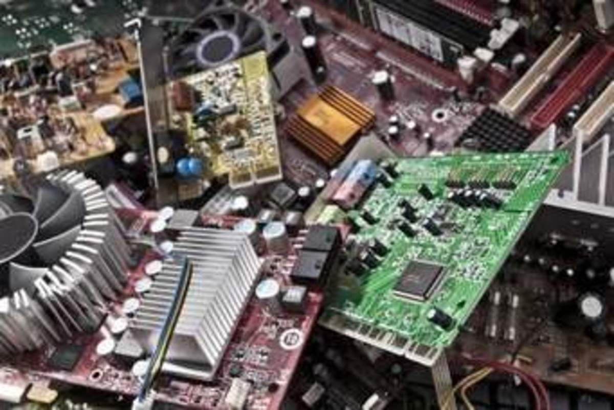 Electronic Circuit Boards with Components