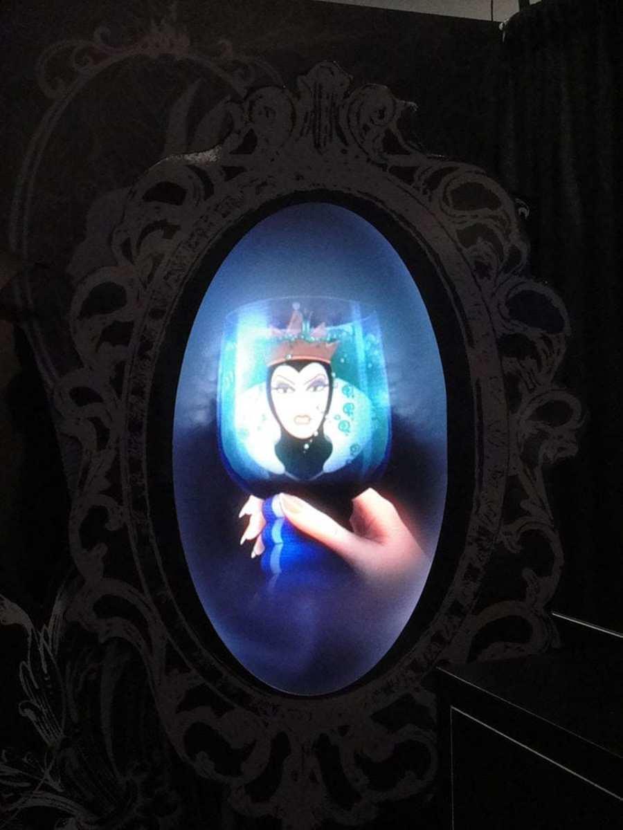 Evil queen looking in the mirror...