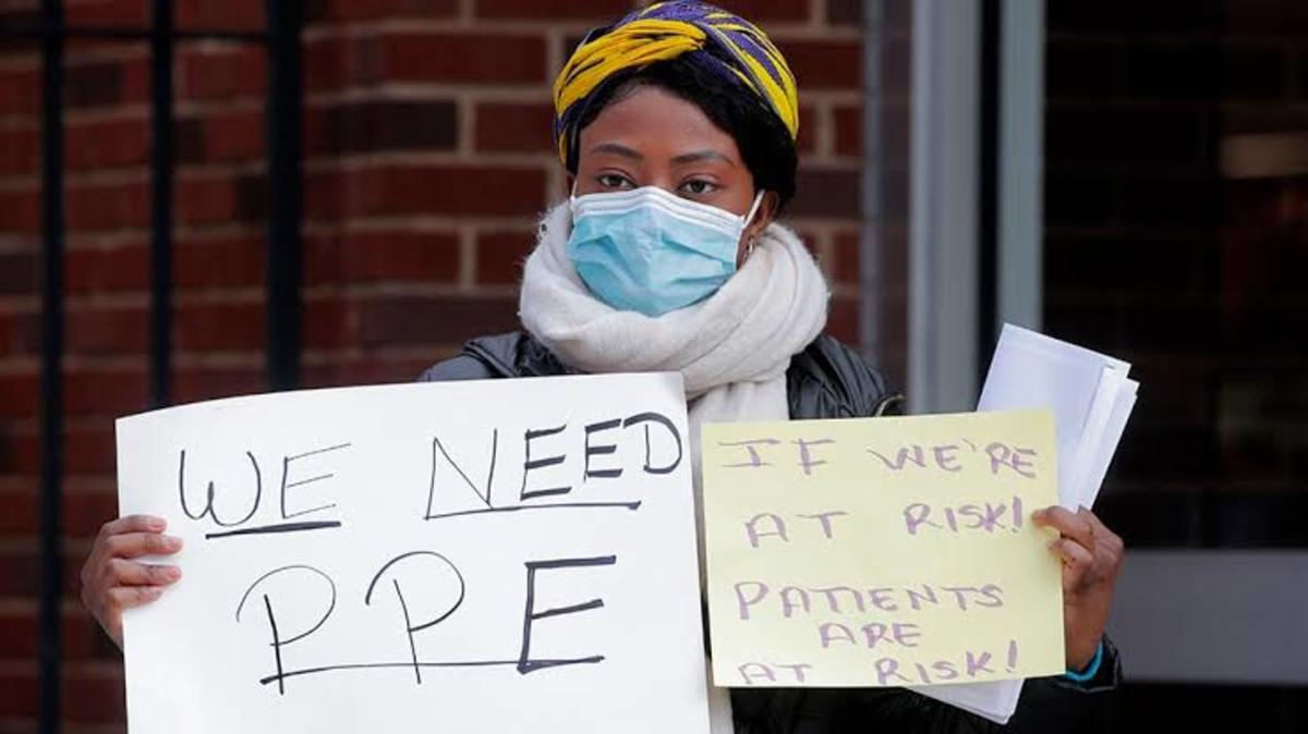 Doctors in USA protesting for PPE