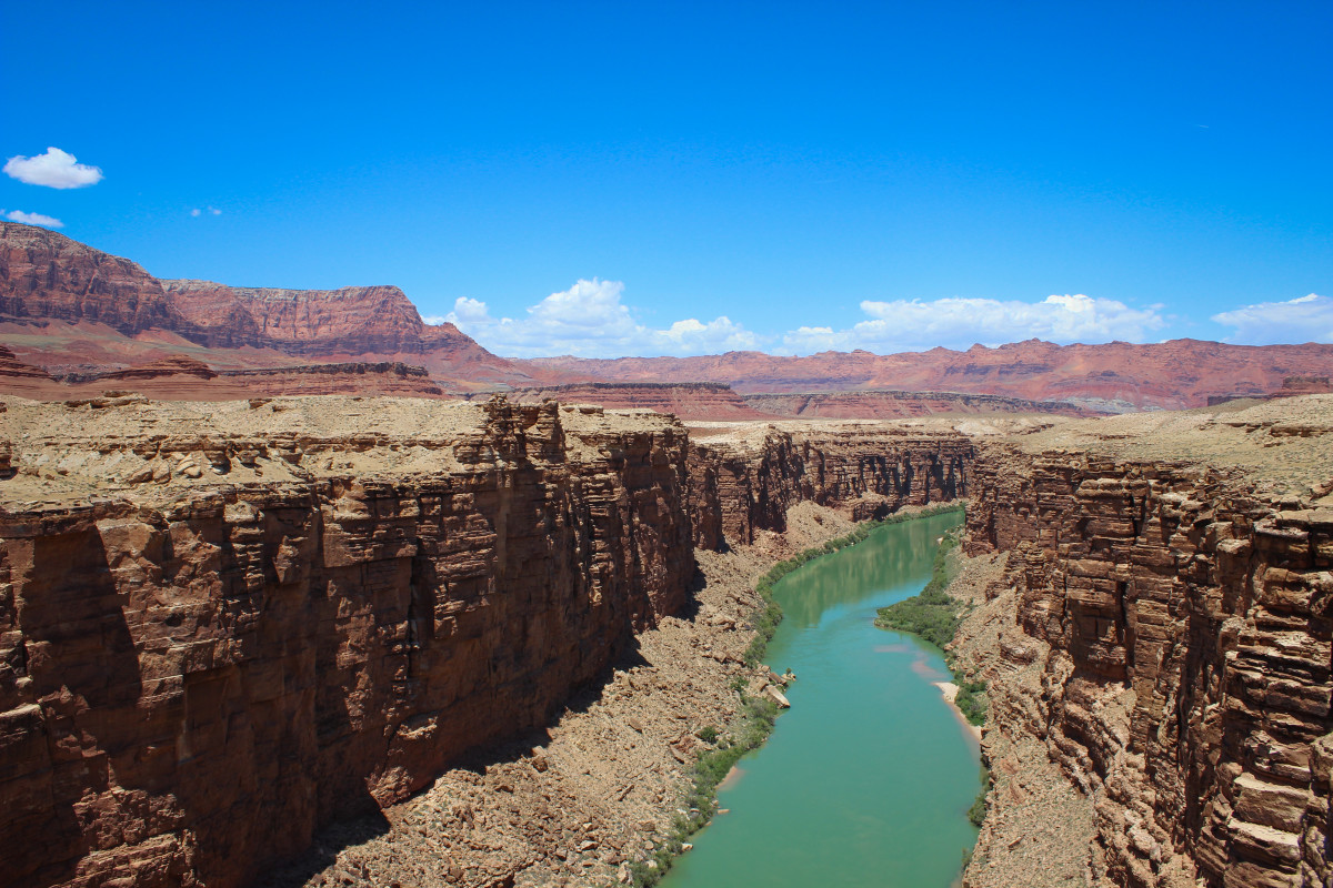 Atop the Navajo Bridge on Route to The Grand Canyon