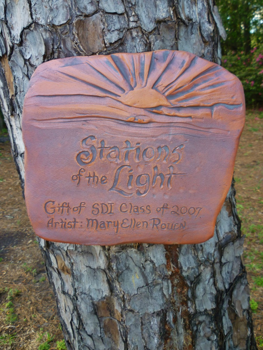 Stations of the Light - Cenacle tree plaque