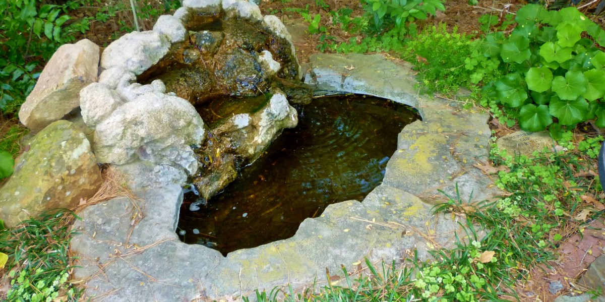 Small fountain on the grounds