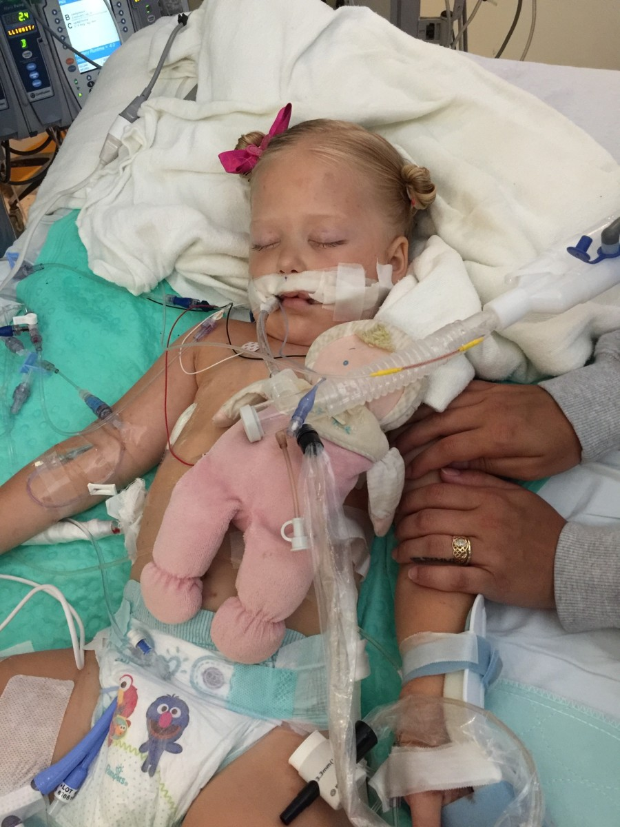 This is Mila, my daughter. This is what it looks like when a child is hooked up to a ventilator. This is what you could be unknowingly putting on a family that you come in contact with just by being out and about during this global pandemic.