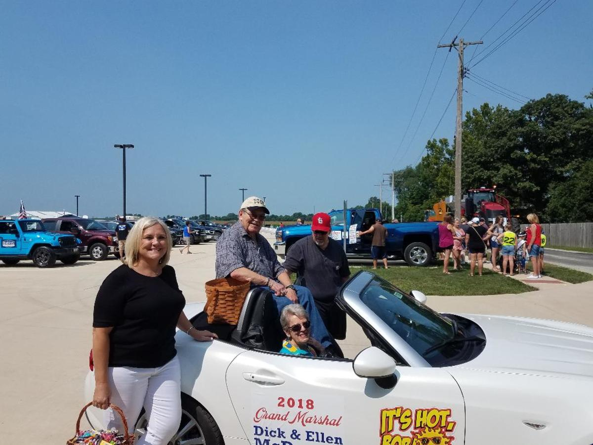 My dad was Grand Marshal in his hometown Fall Festival parade 2018.