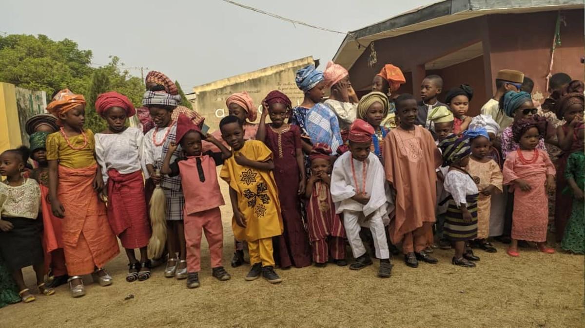 Children During Yoruba Day in a School in Nigeria