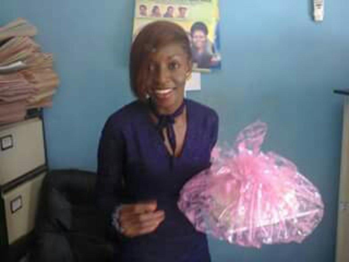 Tola, with Birthday Cake