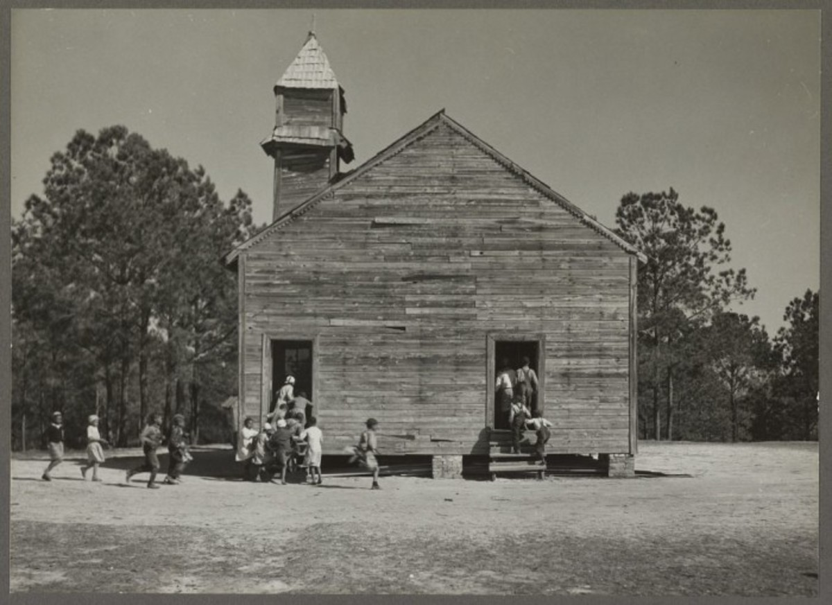 A typical two-room Alabama schoolhouse.