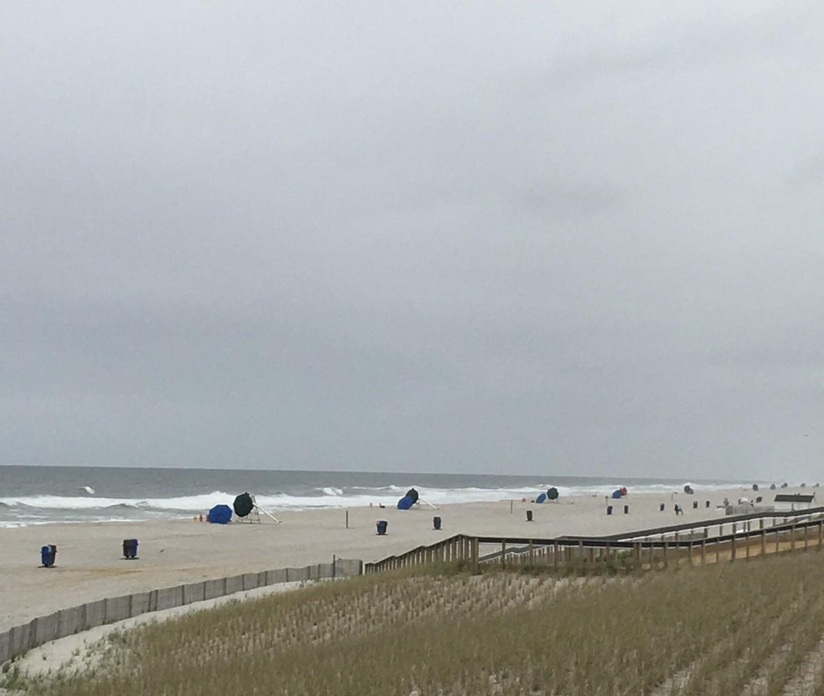 No so crowed Memorial Day beach.