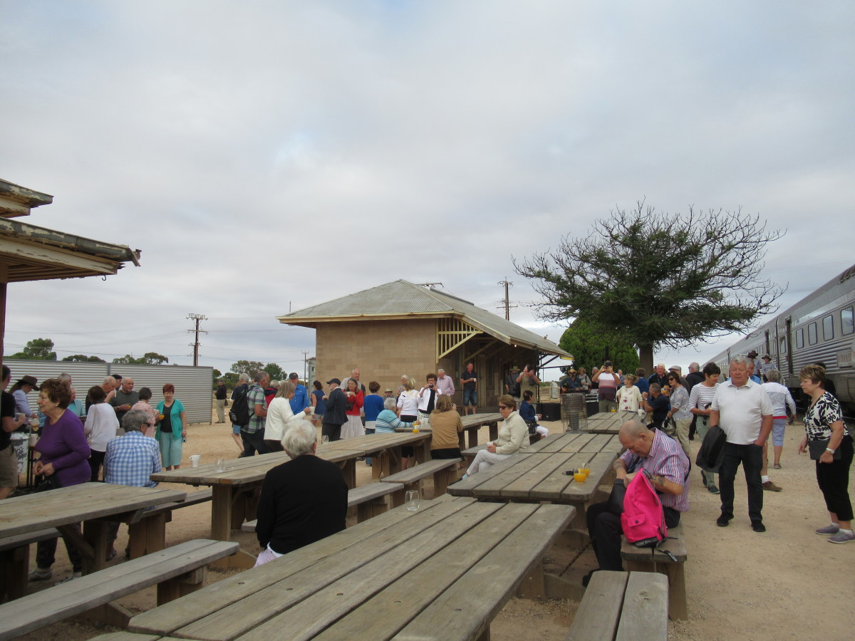 Busy Station Platform in the Nullarbor