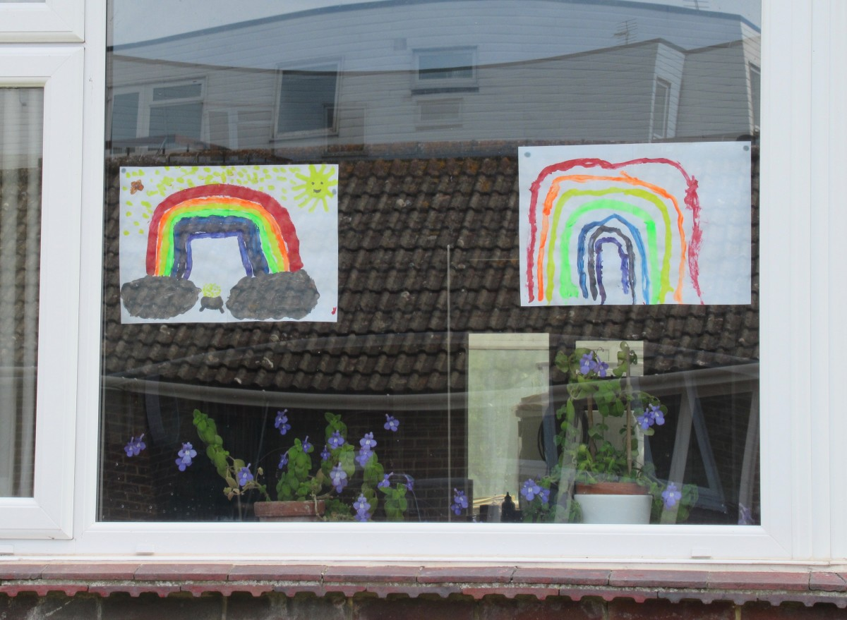 Rainbows by my two youngest granddaughters