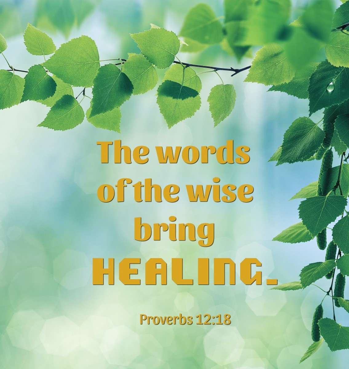 The words of the wise bring healing..