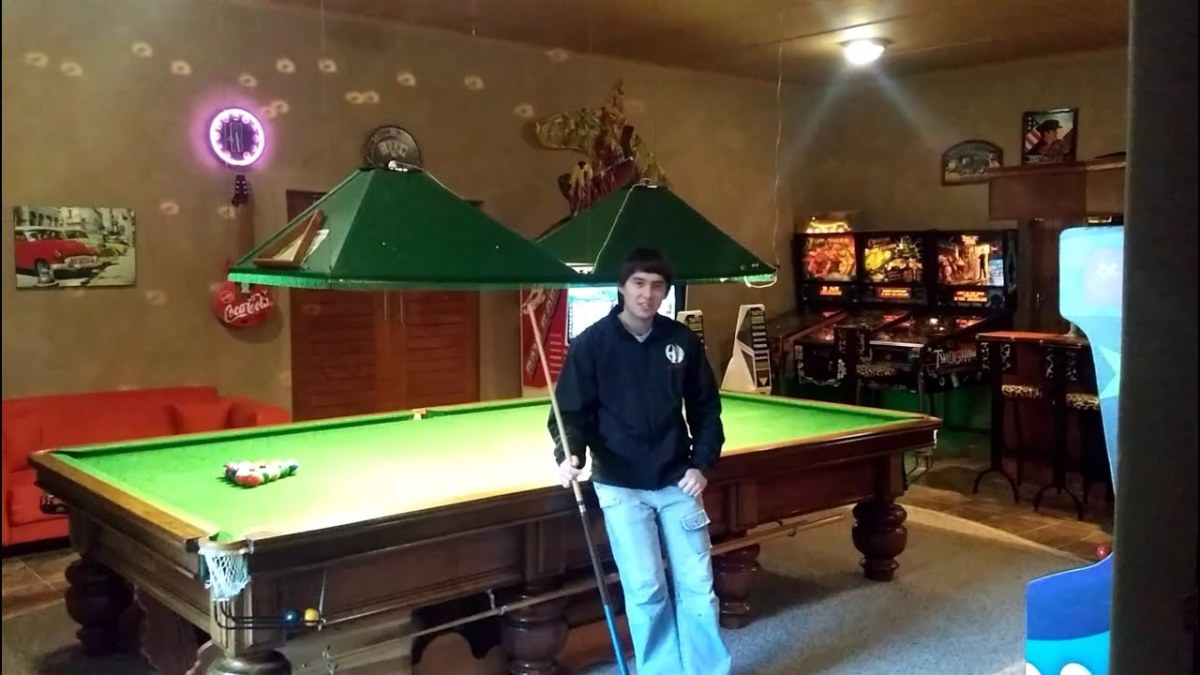 """Famous among many billiards players, is Max """"Res"""" Defult (pictured above) A man who has a Man Cave score of 81 Den Credits. He got his nickname, """"Res"""" (short for resurrect) by always coming back from near losses in billiard games"""