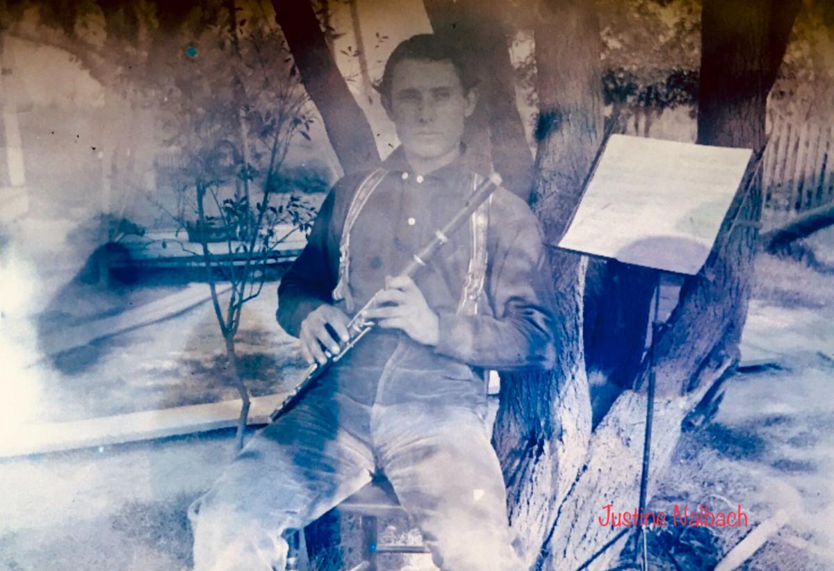 William Vollmar with Musical Instrument