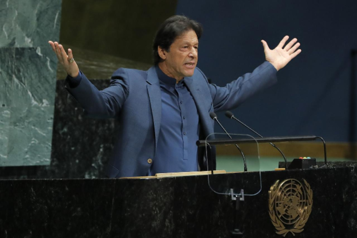 Fig. 3. Prime Minister of Pakistan Imran Khan addresses the 74th annual UN General Assembly.