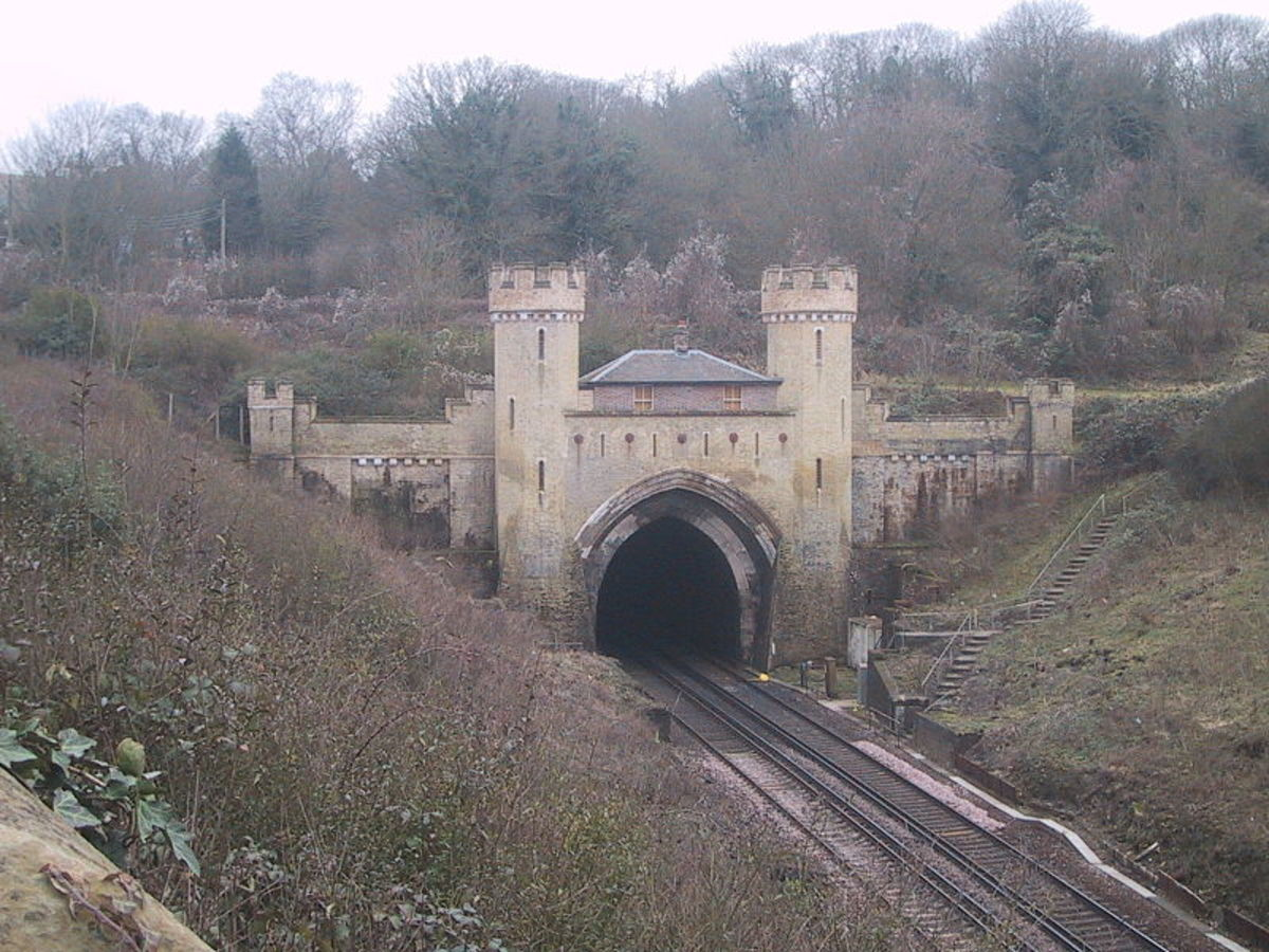 Northern Entrance to Clayton Tunnel, cut through the chalk South Downs