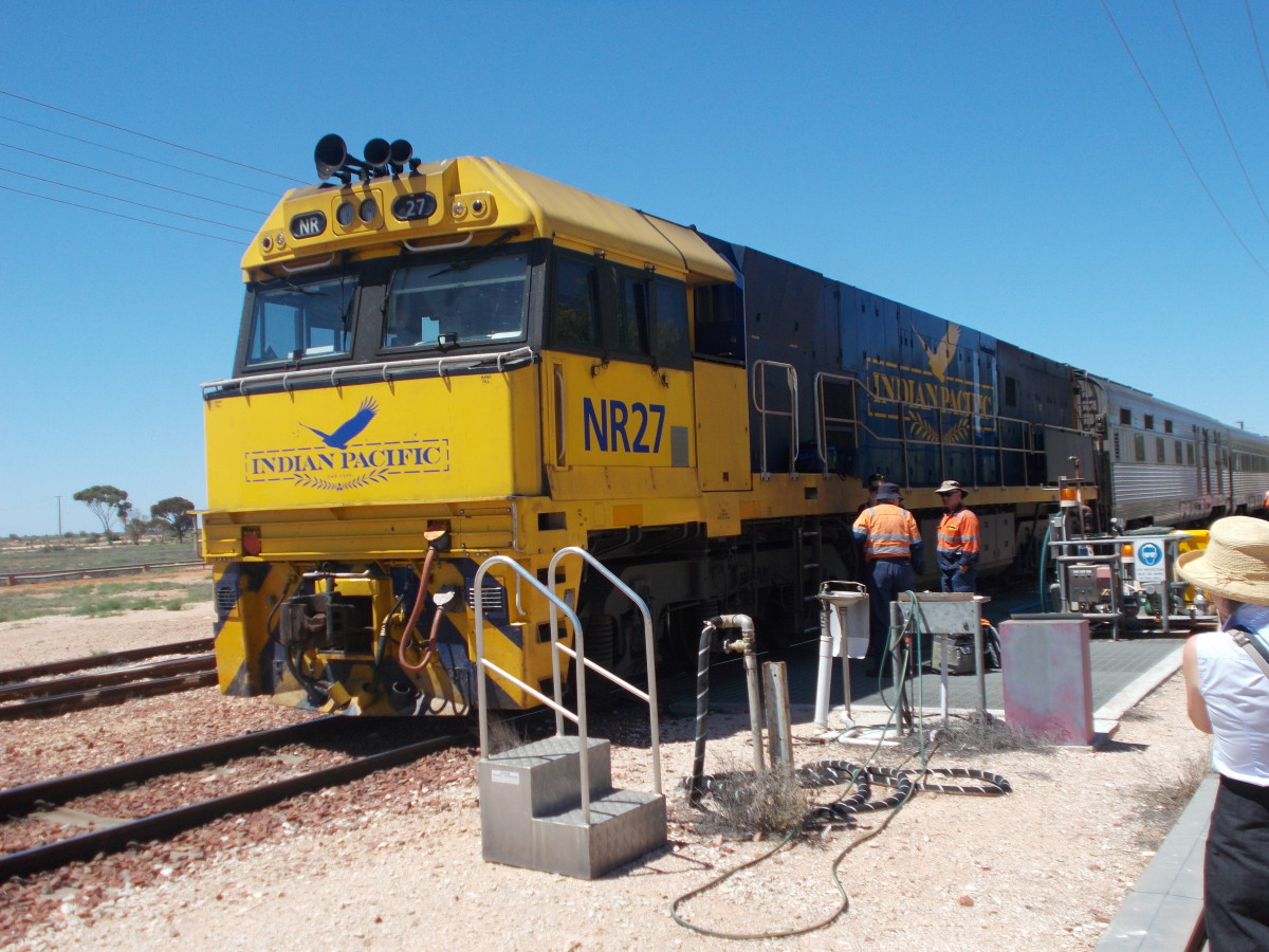 Diesel engine plus 38 carriages! From Perth to Sydney