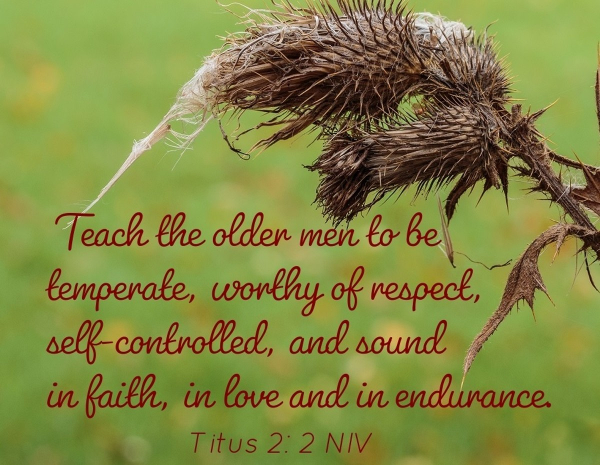 Teach the older men to be  temperate, worthy of respect, self-controlled.