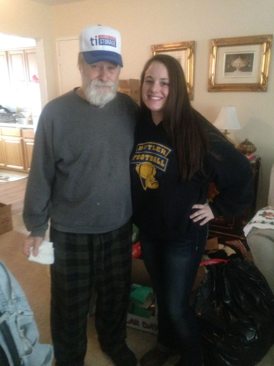 My Pop Pop and I almost two years before he passed.
