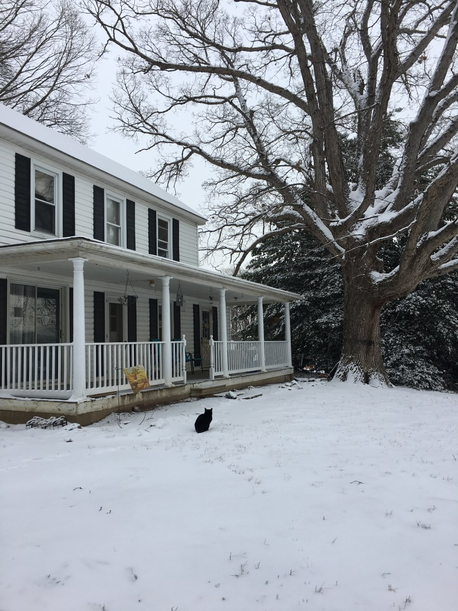 Original family farmhouse, where I live now.