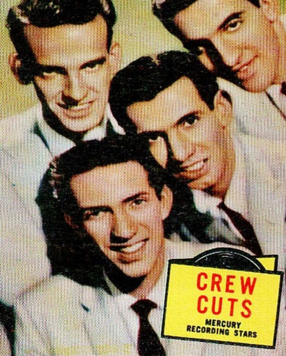 Topps Gum Cards photo from Mercury Records  Crew-Cuts 1957 PN. This was a REAL singing group.