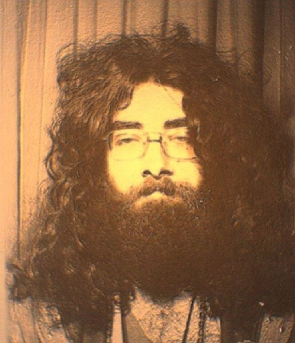 """Steve in 1972, during the Stompin' era, when he was known as """"Droid""""."""