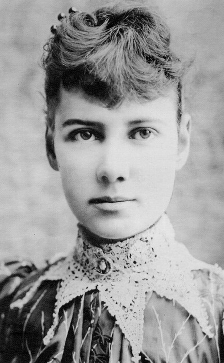 The inspiration for my main character was a real woman named Elizabeth Cochran (or to some of you, Nellie Bly).  Cochran was a journalist that revealed horrific conditions of insane asylums after tricking doctors into admitting her for 10 days.