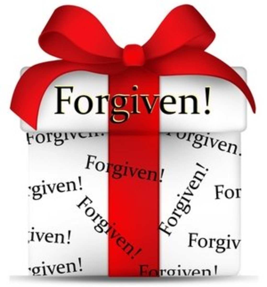You have been forgiven.