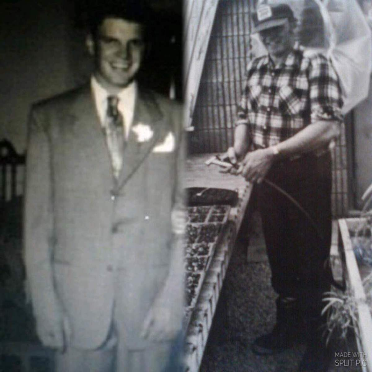My father, Carl Mills, as a young man and not long before he passed away at age 59.
