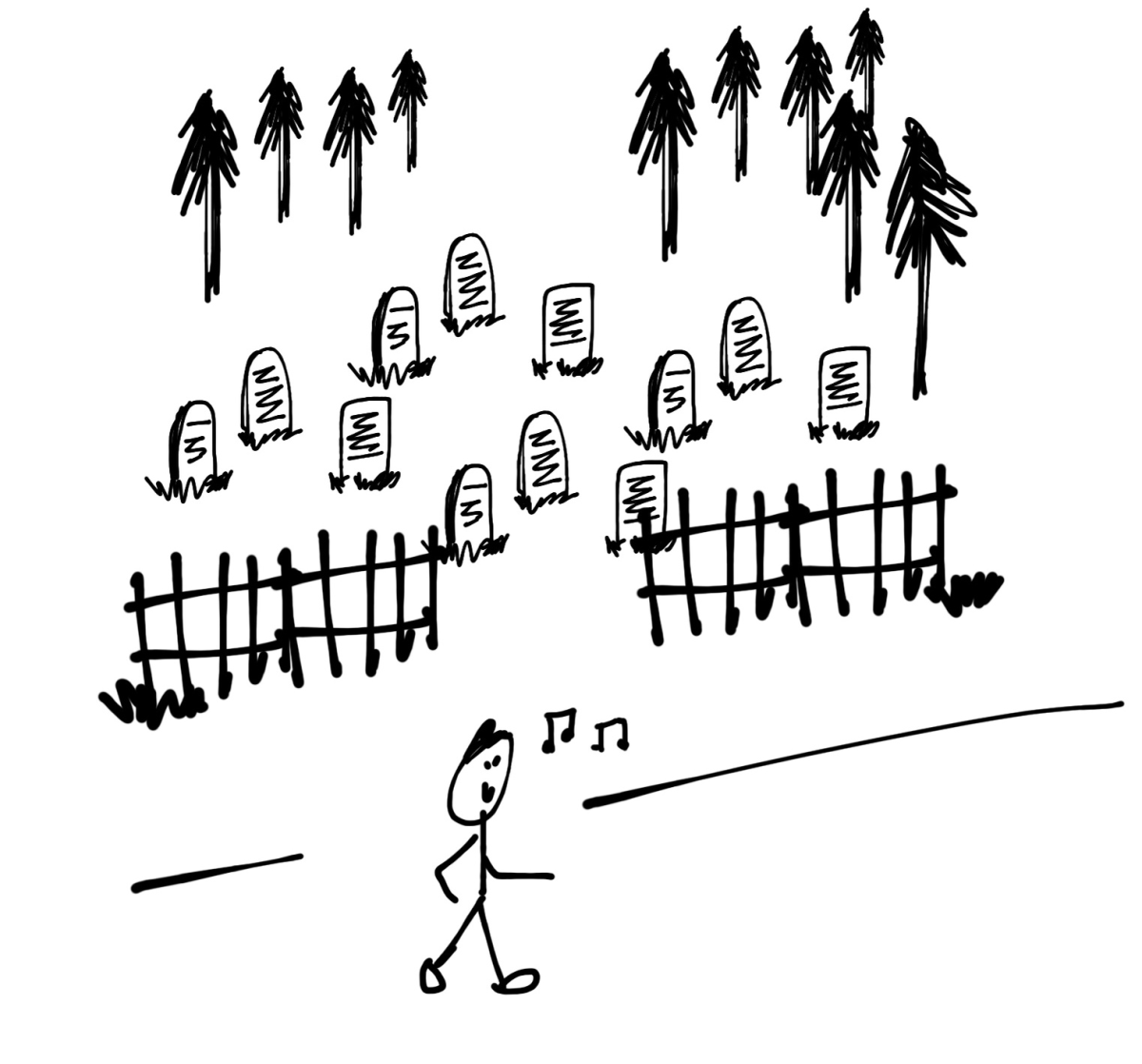 """Whistling Past the Graveyard:  """"To enter a situation with little or no understanding of the possible consequences."""""""