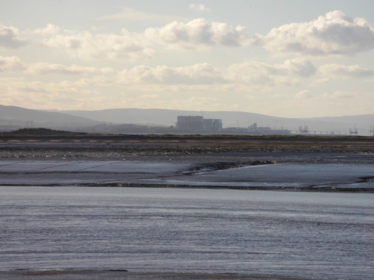 Dunkery Beacon in the background, Hinkley Point on the Coast