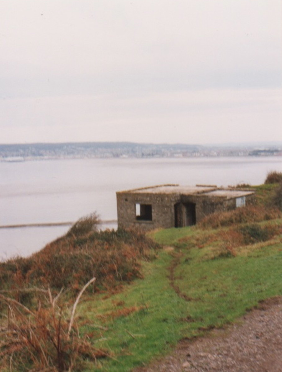 Fort at the far end of Brean Down Promontory