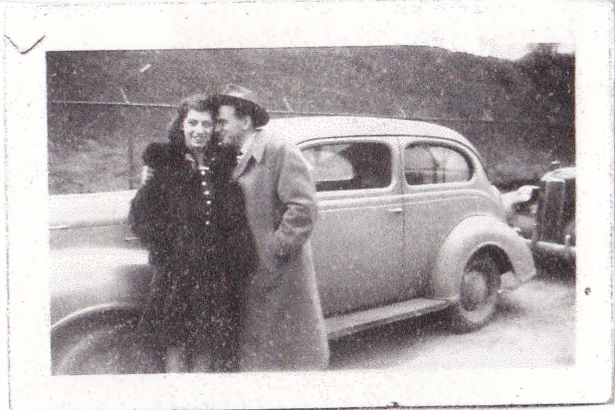 Dad and mom probably in 1944 before the author was born.
