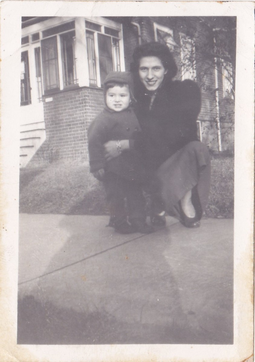 The author with mom in probably 1945 when we lived on the East Side of Milwaukee.