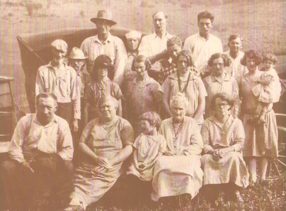 This is an old photograph of my grandmother Katherine Mattison Norton Rood's family reunion.