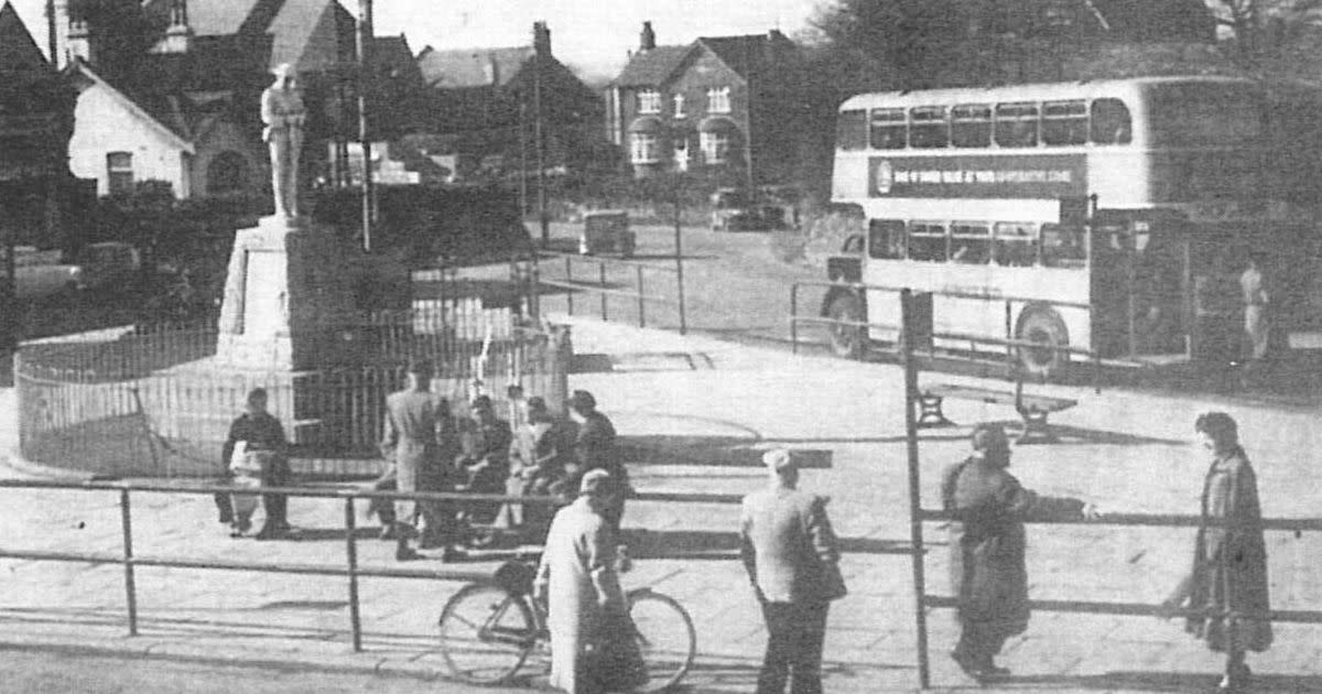 Eston Square looking north along the High Street - Redcar to the east (right), Normanby Ormesby, Middlesbrough to the west, north to Grangetown and south (behind the cameraman) to Eston Hills via Jubilee Road