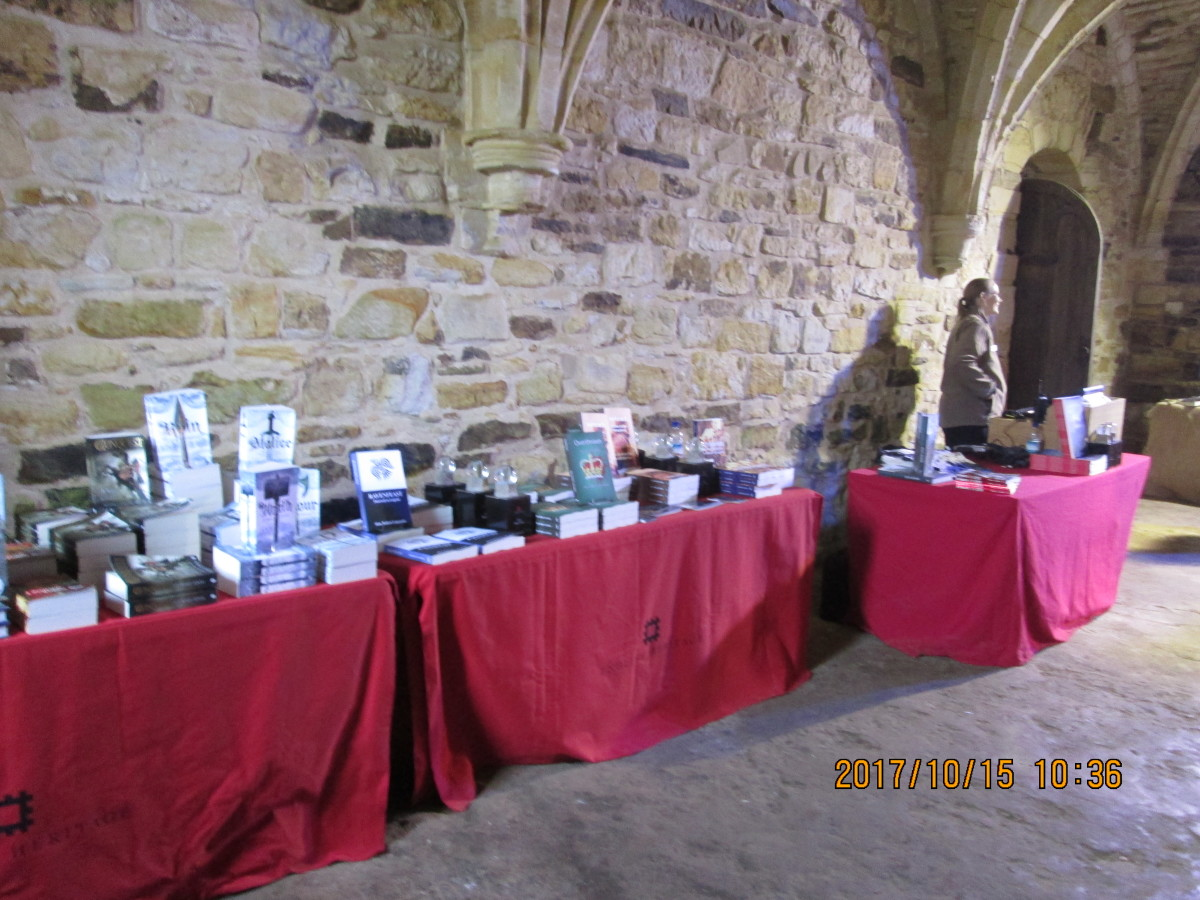 ... And it's in writing historical fiction. My first four books on show at Battle Abbey over the Battle of Hastings weekend, 14th-15th October, 2017 with those of other authors including James Aitcheson who's become a good mate over four years