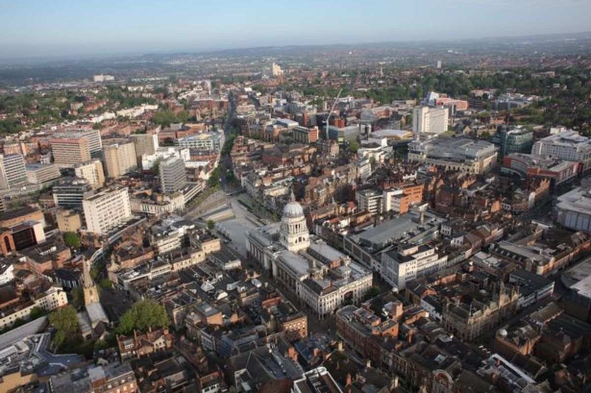 Nottingham City Centre, and no sign of Robin Hood, the Sheriff or Maid Marian - nor is it even the same castle! I had four jobs here in the course of three and a half years
