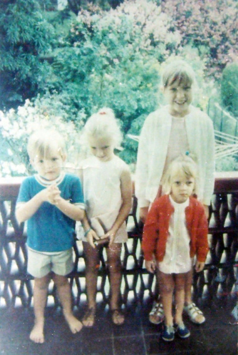 As a child in South Africa with my sisters