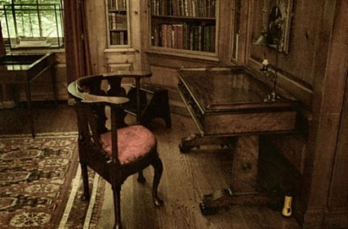 Study of Charles Dickens in the Library of Philadelphia