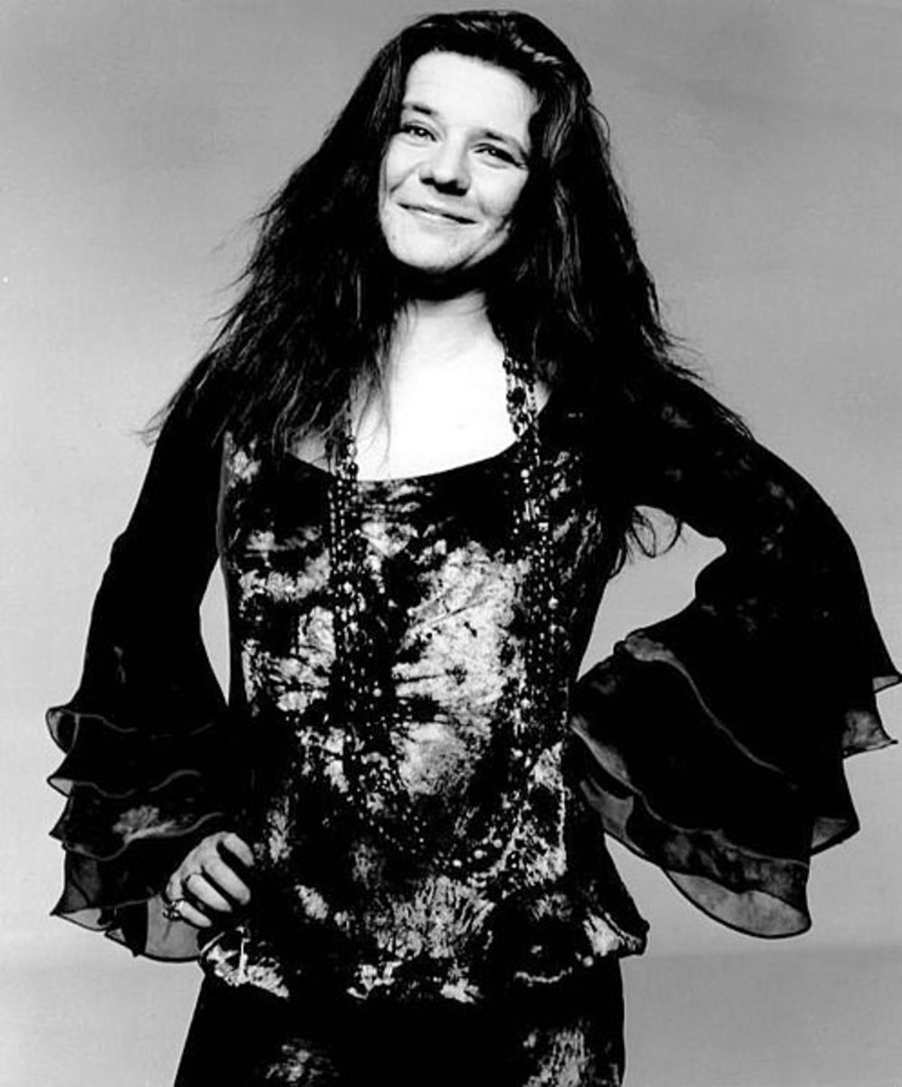 Publicity photo of Janis Joplin.