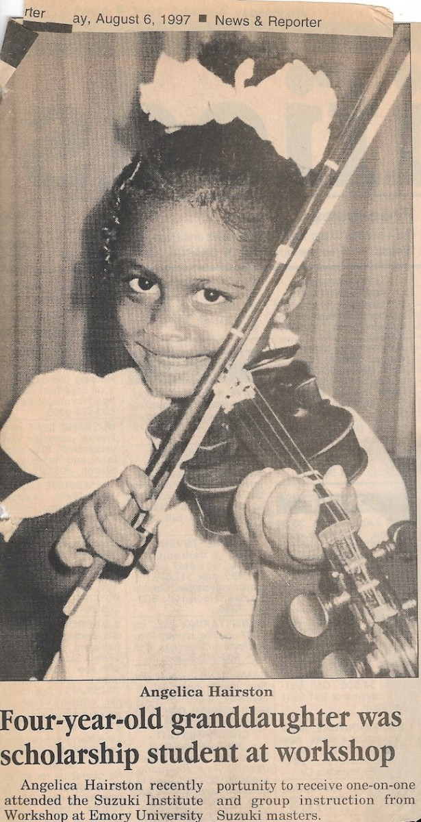 Chester (S.C.) News & Reporter published an article by her grandparents announcing her summer music camp scholarship.