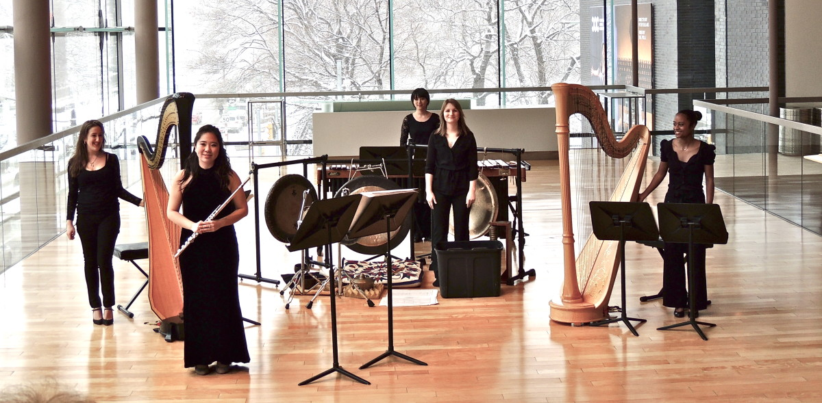 Angelica performing with an ensemble at Koerner Hall at the Glenn Gould School of the Royal Conservatory of Music