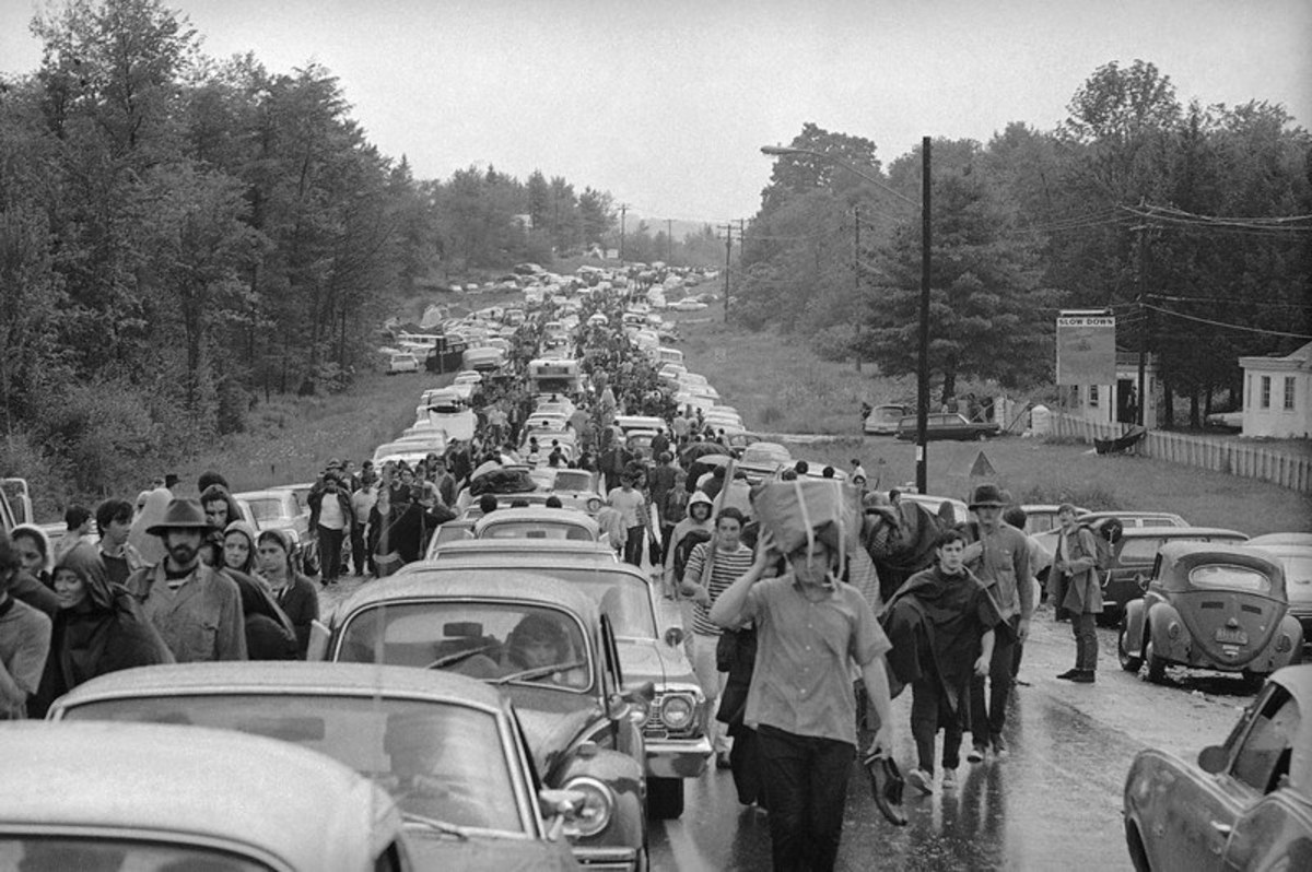 Fans leaving Woodstock. Do you remember scenes like this?
