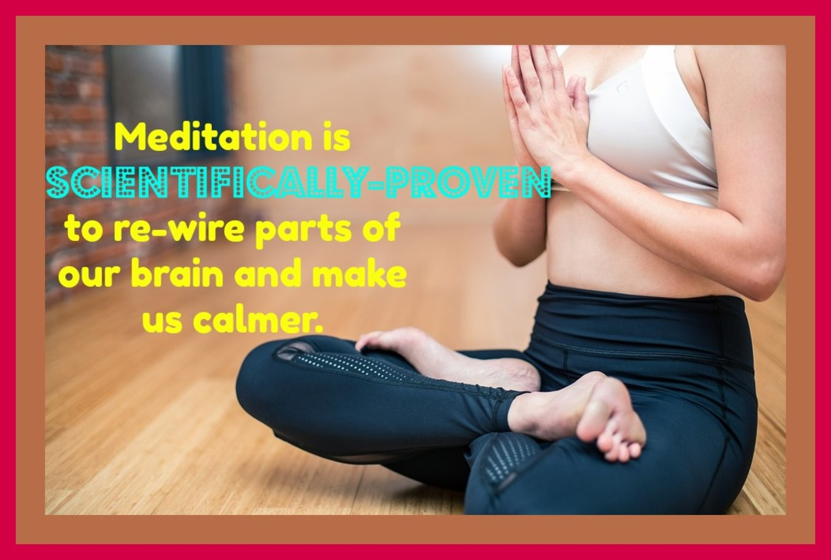 When I take time to meditate, I'm more relaxed and peaceful throughout the day. Taking five minutes a day to meditate relieves my stress and helps me focus.