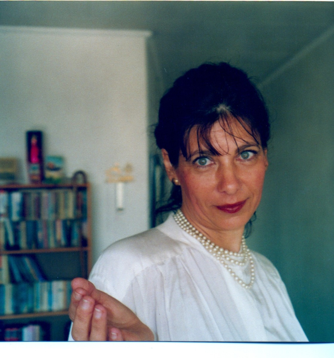 In my early 40s during my Jewish days. I was tremendously stressed.This was taken on the day of my daughter's BatMitsvah.