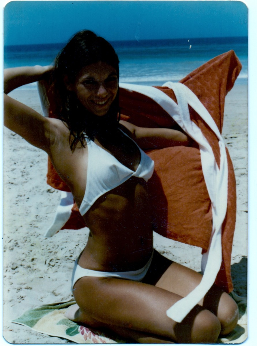 Tessa Schlesinger. In my early twenties, I loved life on the beach.