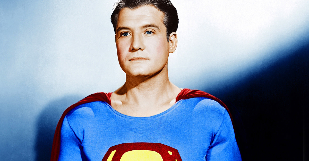 "The troubled George Reeves, star of ""The Adventures of Superman,"" whose alleged suicide remains one of Hollywood's greatest mysteries."